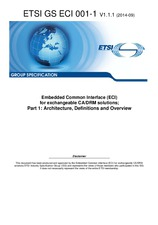 Preview ETSI GS ECI 001-1-V1.1.1 19.9.2014