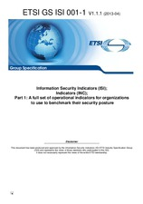 Preview ETSI GS ISI 001-1-V1.1.1 23.4.2013