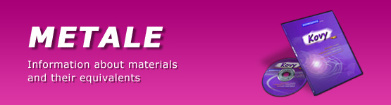 Metale – Information about materials and their equivalents
