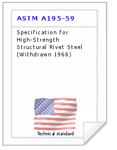 Technical standard ASTM A195-59