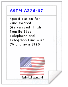 Technical standard ASTM A326-67
