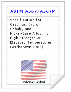 Technical standard ASTM A567/A567M