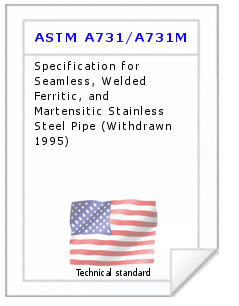 Technical standard ASTM A731/A731M