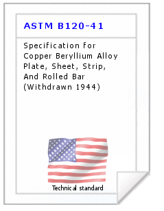Technical standard ASTM B120-41