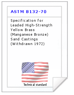 Technical standard ASTM B132-70