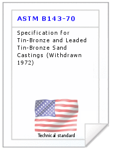 Technical standard ASTM B143-70