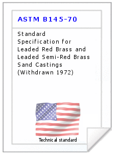 Technical standard ASTM B145-70
