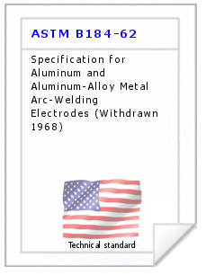 Technical standard ASTM B184-62