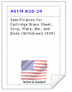 Technical standard ASTM B20-29