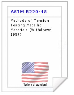 Technical standard ASTM B220-48