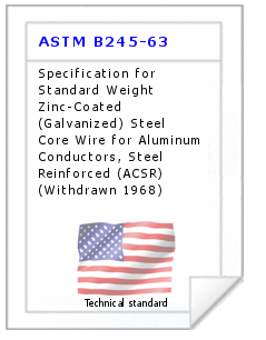 Technical standard ASTM B245-63