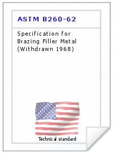 Technical standard ASTM B260-62