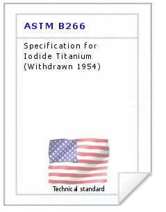 Technical standard ASTM B266