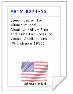 Technical standard ASTM B274-56