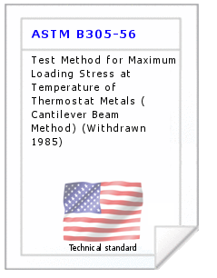 Technical standard ASTM B305-56