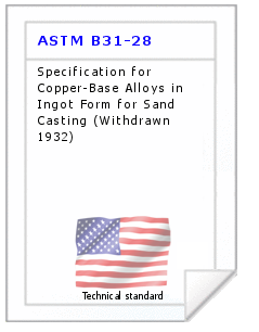 Technical standard ASTM B31-28