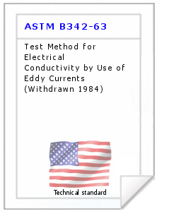 Technical standard ASTM B342-63