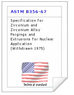 Technical standard ASTM B356-67