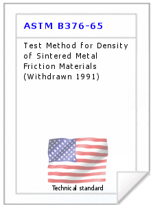 Technical standard ASTM B376-65