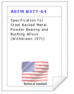 Technical standard ASTM B377-64