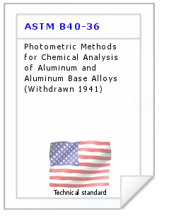 Technical standard ASTM B40-36