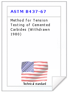 Technical standard ASTM B437-67