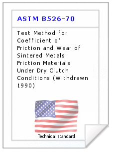 Technical standard ASTM B526-70