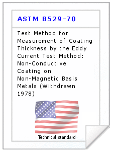 Technical standard ASTM B529-70