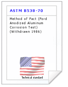 Technical standard ASTM B538-70