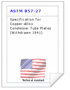 Technical standard ASTM B57-27