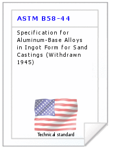 Technical standard ASTM B58-44