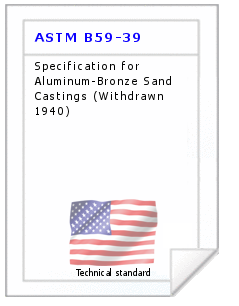 Technical standard ASTM B59-39