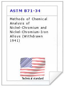Technical standard ASTM B71-34