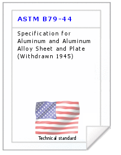 Technical standard ASTM B79-44