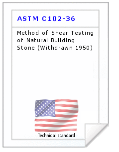 Technical standard ASTM C102-36