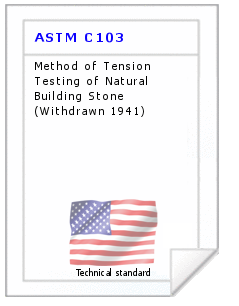 Technical standard ASTM C103