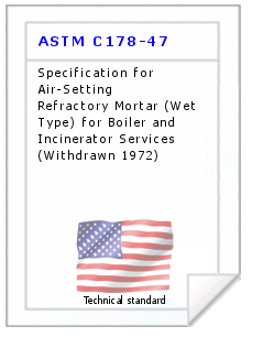 Technical standard ASTM C178-47
