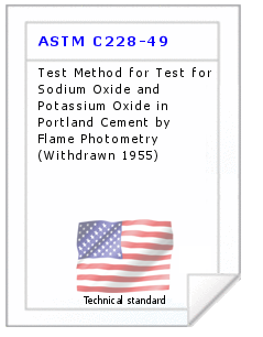 Technical standard ASTM C228-49