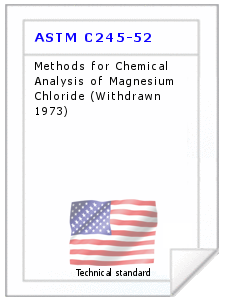 Technical standard ASTM C245-52