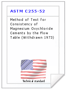 Technical standard ASTM C255-52