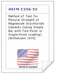 Technical standard ASTM C256-52