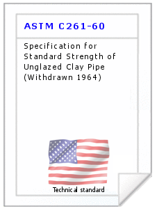 Technical standard ASTM C261-60