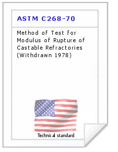 Technical standard ASTM C268-70