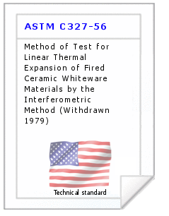 Technical standard ASTM C327-56