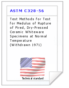 Technical standard ASTM C328-56