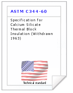 Technical standard ASTM C344-60