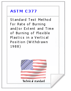 Technical standard ASTM C377