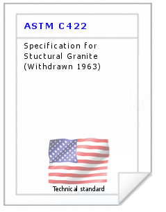 Technical standard ASTM C422