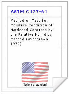 Technical standard ASTM C427-64