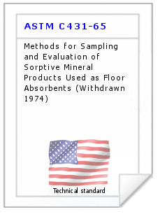 Technical standard ASTM C431-65